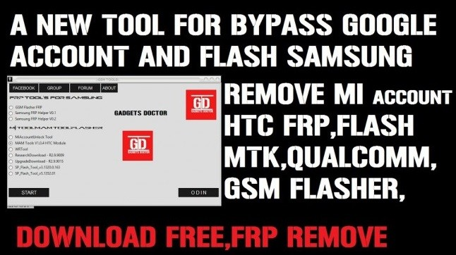 New FRP/Google Account Bypass & Flashing Tool