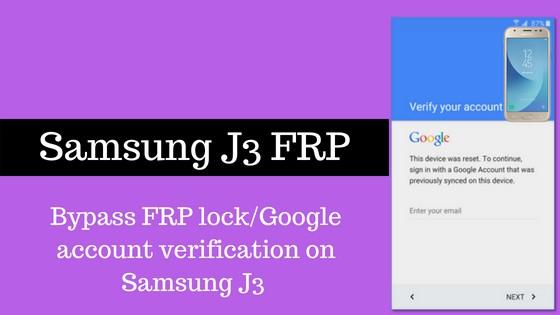 samsung j3 frp